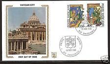 VATICAN CITY # 677-678 FDC Saint Bishop