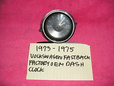 1973-1975 VOLKSWAGEN FASTBACK GENUINE FACTORY OEM CLOCK ASSEMBLY FREE SHIPPING