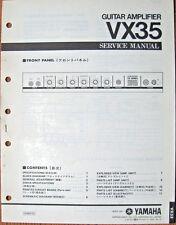 YAMAHA VX35 Guitar Amplifier Original Service Manual, Schematics Parts List Book