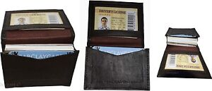 Lot of 3 New Leather Business card case, Brown Credit card ID leather case BNWT*
