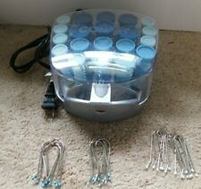 Conair HS34R Compact Hot Roller Hair Set Blue 20 Rollers With 20 Clips