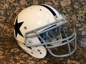 "Schutt ""DALLAS COWBOYS"" WHITE Speed Full Size Throwback Football Helmet not worn"