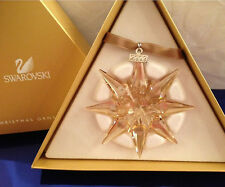 SWAROVSKI STELLA DI NATALE 2009 DORATA SCS CHRISTMAS ORNAMENT GOLD NUOVO 1026761