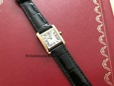 CARTIER TANK FRANCAISE 18K YELLOW GOLD W5000256 LADIE'S SIZE ,EXCELLENT WITH BOX