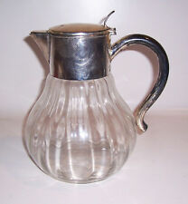 Art Deco Kalte Ente Saftkrug versilberter Glaskrug Quist Karaffe deko Vintage !