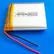 3.7v li po battery 3500mAh 104755 for Tablet PC DVD GPS Camera Recorder PAD PDA