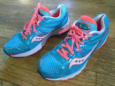 SAUCONY ProGrid Guide 6 Womens Size US 9 Euro 40 Blue/Coral Running Shoes