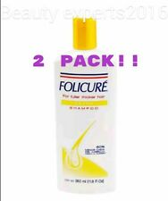 2 PACK! FOLICURE EXTRA SHAMPOO FULLER THICKER HAIR  Reduces hair loss 72% 350 ml