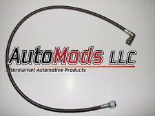 """48"""" 90 Braided Stainless Steel Line Aeroquip -3an universal oil feed turbo 4feet"""