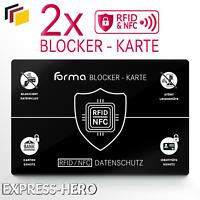 2x RFID Blocker Karte Kreditkarte EC Karte Schutz NFC Schutzkarte Blocking Card
