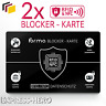 2x RFID Blocker Karte NFC Schutzkarte EC Karten Schutz kreditkarten Card Signal
