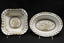 Spode Buttercup Square Vegetable Bowl & Oval Vegetable Bowl (Faults)