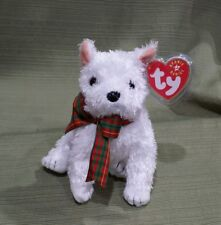 Ty Beanie Baby Kirby the White Terrier Dog  MWMT 2001 Retired
