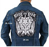 Ride or Die Biker Patch for Jacket Backing Punk Motorcycle Embroidery Skeleton