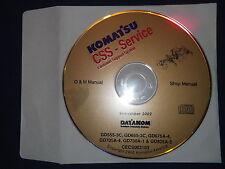 KOMATSU GD555 GD655-3C  D675A-4 GD705A-4 GD750A-1 GRADER SERVICE SHOP CD MANUAL