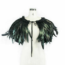 Devil Fashion Unisex Gothic Punk Prom Party Feather Cappa Clothing Accessories