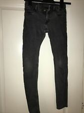Girls H&M Super Skinny Fit Jeans Grey Aged 10-11