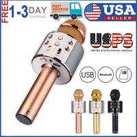 Wireless Bluetooth Karaoke KTV Microphone Speaker Stereo Singing Player USA