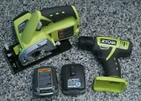 Ryobi 12V Li-ion Tool Lot CS120L Circular Saw, HJP001 Drill, 2 CB120L Batteries