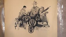 "Original drawing by James W. Harlan, ""Years of Training"" #11 of 34"