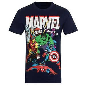 Marvel Comics Boys T-Shirt Character Hulk Iron Man Thor Kids OFFICIAL Gift