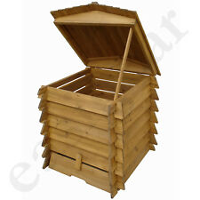 328L Wooden Compost Bin Composter BeeHive Style Recycle Garden Kitchen Waste 337