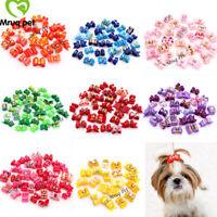 10X Choose Colors Pet Dog Cat Hair Bows Dog Hair Accessory Dog Grooming Bows