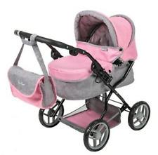 New! Pink Silver Cross Dolls Pram Pushchair Kids Toy