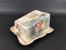 Antique Franz Anton Mehlem, ceramic cheese box / dish Bonn Germany 1880's 1890's