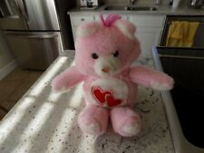 Vintage Pink Love Handmade Stuffed Carebear from the 80's