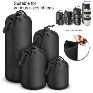 4x Objektivköcher Objektivtasche Objektivbeutel Tasche für Sony Kamera