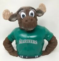 MLB Seattle Mariners Moose Piggy Bank Coin Bank Mariners Mascot Green Jersey NEW
