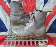 Rare*Pascal 1460*Lilac Dusky Grey Buttero Leather Dr Doc Martens*Quirky*Kitsch*4