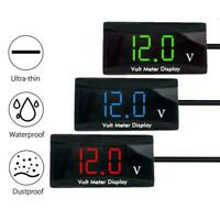Car Motorcycle 12V Digital LED Display Voltmeter Voltage Gauge Meter Panel Z6T9