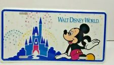 Collectible Walt Disney World Mickey Castle Metal License Plate Sealed