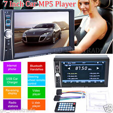 "7"" 2 Din In Dash Stereo Car MP5 Player Bluetooth Touchscreen Radio FM Aux+Camera"