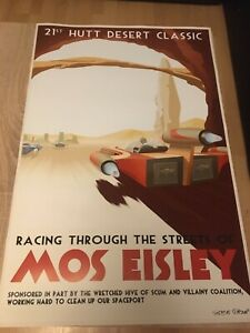 Star Wars - Racing through the Streets of Mos Eisley Poster 60x90cm