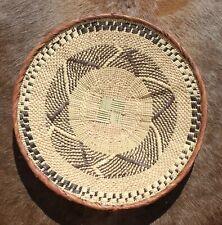Korbschale aus Palmenblättern geflochten, Korbschalen Handarbeit aus Südafrika