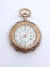 Ancienne montre de col en or massif 18k époque 1900 gousset