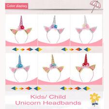 Unicorn Costume Accessory Headband Girls Baby Tiara Child Birthday Fancy Dress