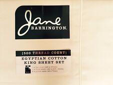 Jane Barringto 500 THREAD EGYPTIAN COUNT COTTON SHEET SET- KING BED - IVORY