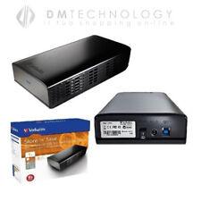 HARD DISK ESTERNO 3,5 1TB VERBATIM USB 2.0 HD 1000GB PER PC TV CONSOLE