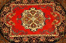 Circa 1930's ANTIQUE KORK WOOL_HIGH KPSI_SILK ACCENTS PERSIAN KASHAN RUG 2.3x3.3