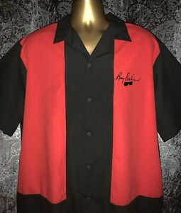 Rare Hilton Bowling Retro Men's Black XL Roy Orbison Short Sleeve Ten Pin Shirt