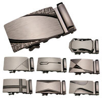 Men's Automatic Slide Buckle Replacement Metal Business Ratchet Belt Buckle