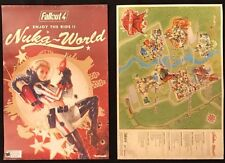 Fallout 4 Nuka Cola 2 Sided Promo Poster Banner/Reverse Side Map Preorder RARE