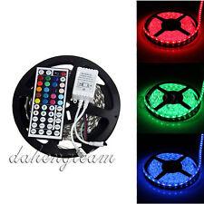 5M 500CM 5050 RGB SMD Non-Waterproof Flexible LED Strip 300LEDs+ 44Key IR Remote