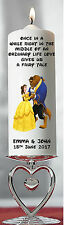 Personalised Wedding Gift Candle Disney Beauty & The Beast Centrepiece Thank You