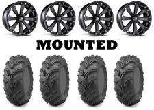 Kit 4 Maxxis Zilla Tires 28x9-14/28x11-14 on MSA M20 Kore Black Wheels HP1K