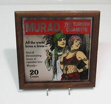 Vintage 1970's MURAD Turkish Cigarette Framed Mirror Advertisement 1920s Theme